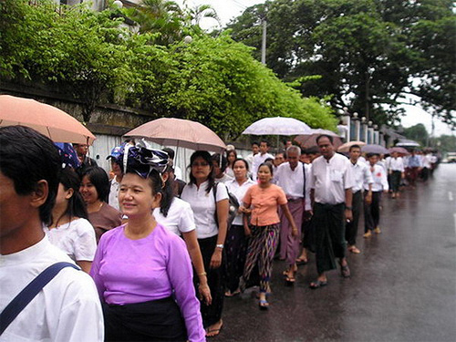 August 20, 2007 protest in Rangoon